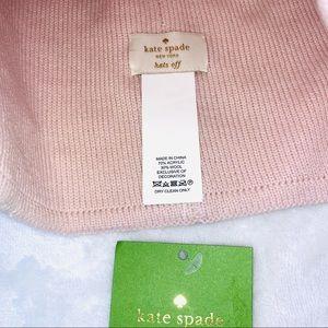 Kate Spade Solid Spade Beanie in Rose Dew Pink